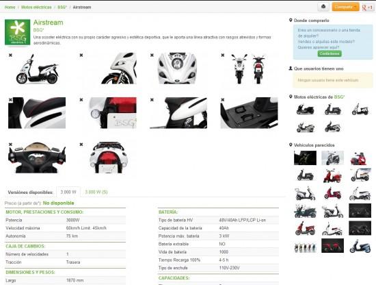Ficha detallada modelo de moto