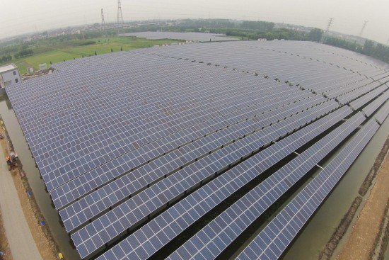 Power Station For Both Fishing And Solar Energy Built In Jiaxing