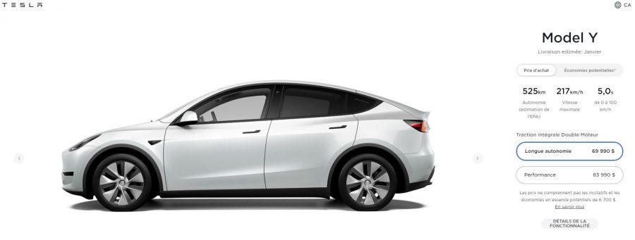 El Tesla Model Y homologa 525 km de autonomía bajo el ciclo americano EPA