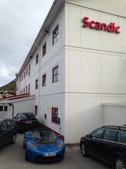 Foto 1 del punto eRoute 71, Scandic Bryggen Hotell Honningsvåg